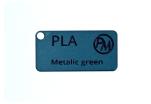 Vzorek PLA - metalická zelená (1,75 mm; 10 m)