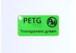 Vzorek PETG - transparentní zelená (1,75 mm; 10 m)