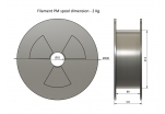 PLA - modrá (1,75 mm; 2 kg)