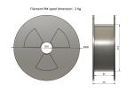 PLA - stříbrná (1,75 mm; 2 kg)