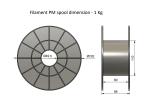 ASA - modrá (1,75 mm; 0,75 kg)
