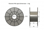 ASA - stříbrná (1,75 mm; 0,75 kg)