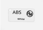 Vzorek ABS - bílá (1,75 mm; 10 m)