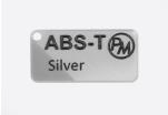 Vzorek ABS-T - stříbrná (1,75 mm; 10 m)