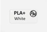 Vzorek PLA+ - bílá (1,75 mm; 10 m)