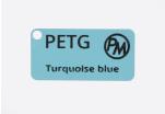 Vzorek PETG - tyrkysová modrá (1,75 mm; 10 m)