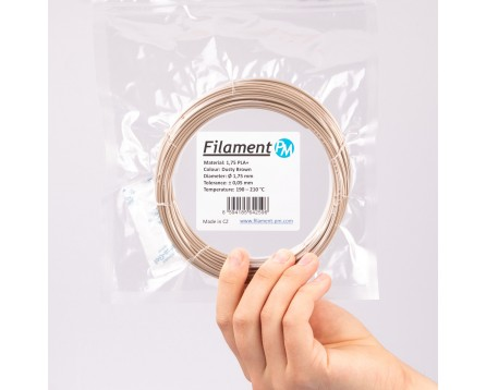 """Vzorek PLA+ """"Dusty Brown"""" (1,75 mm; 10 m)"""