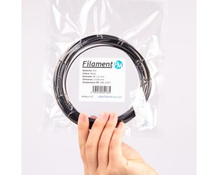 Vzorek PLA - černá (1,75 mm; 10 m)