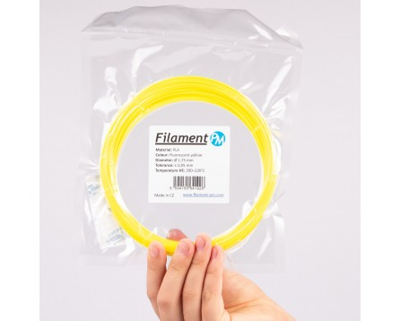 Vzorek PLA - fluorescenční žlutá (1,75 mm; 10 m)