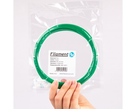 Vzorek PLA - zelená (1,75 mm; 10 m)