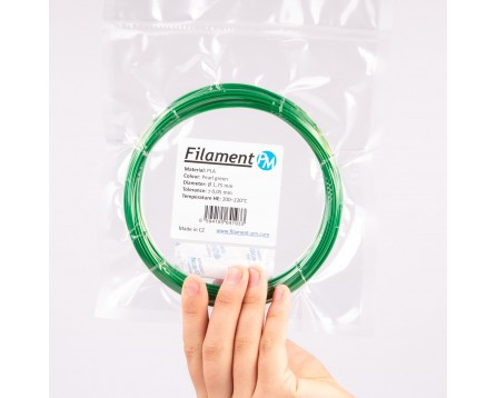 Vzorek PLA - perlová zelená (1,75 mm; 10 m)