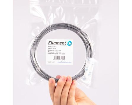 Vzorek PLA - stříbrná (1,75 mm; 10 m)