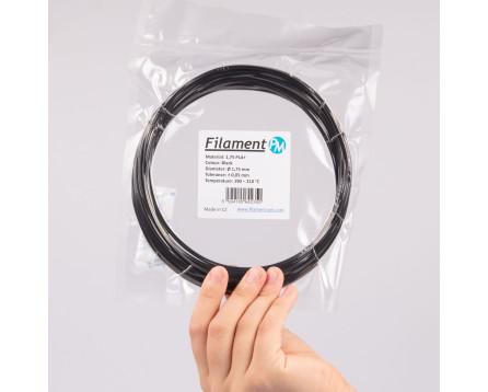 Vzorek PLA+ - černá (1,75 mm; 10 m)