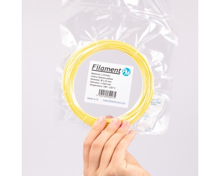 """Vzorek PLA+ - """"Banana Yellow"""" (1,75 mm; 10 m)"""