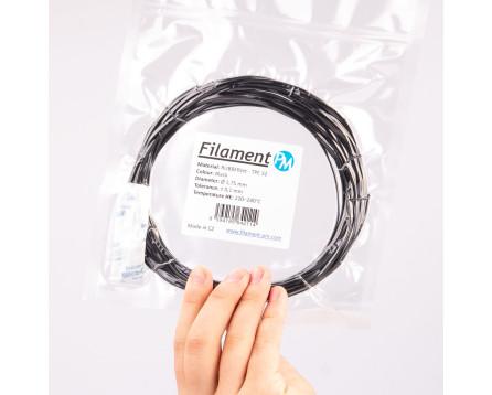 Vzorek TPE 32 RubberJet Flex - černá (1,75 mm; 10 m)